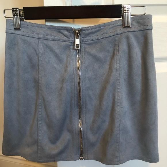 Suede Blue skirt